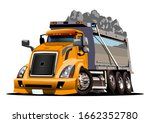 Vector Cartoon Dump Truck....