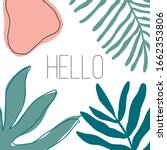 summer time illustration. hello ... | Shutterstock .eps vector #1662353806