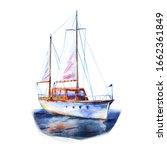 Yacht  Sailboat At Sea  Ship...