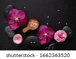 flat lay aromatherapy. close up ... | Shutterstock . vector #1662363520