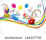 abstract magical gift wave... | Shutterstock .eps vector #166237730