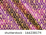 pattern of thai native cloth. | Shutterstock . vector #166238174