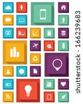 infographic icon set for web...