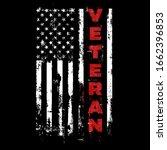 us veteran. usa army flag.... | Shutterstock .eps vector #1662396853