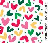 seamless heart background.... | Shutterstock .eps vector #1662398680