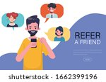 young man have refer a friend... | Shutterstock .eps vector #1662399196