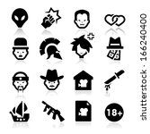 movies genres icons | Shutterstock .eps vector #166240400