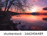 Sunset by Lake Mendota in Madison, Wisconsin