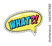 colorful speech bubble with...   Shutterstock .eps vector #1662407680