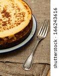 homemade new york cheesecake | Shutterstock . vector #166243616