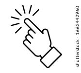 simple hand icon. hand clicking ...   Shutterstock .eps vector #1662442960