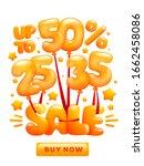 sale title flying on helium... | Shutterstock .eps vector #1662458086