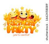 smile yellow faces emoji...   Shutterstock .eps vector #1662458089