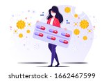 coronavirus prevention  young... | Shutterstock .eps vector #1662467599