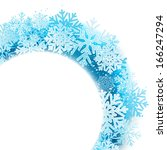 winter background with blue... | Shutterstock .eps vector #166247294