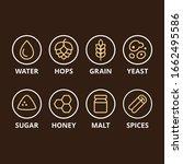 Beer Ingredient Icons. Basic...