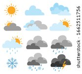 set of weather icons. flat... | Shutterstock .eps vector #1662511756