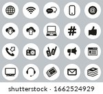 information channel icons black ... | Shutterstock .eps vector #1662524929