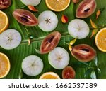 background of fresh tropical... | Shutterstock . vector #1662537589