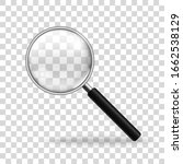 realistic magnifying glass.... | Shutterstock .eps vector #1662538129