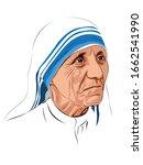 mother teresa  saint teresa was ...   Shutterstock .eps vector #1662541990