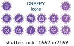 editable 14 creepy icons for... | Shutterstock .eps vector #1662552169