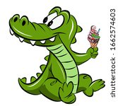 crocodile teeth candy drawing...   Shutterstock . vector #1662574603