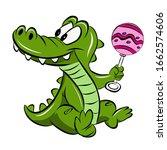 crocodile teeth candy drawing...   Shutterstock . vector #1662574606