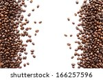 Coffee Beans At Border Of Image ...