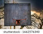 Rusty old basketball hoop...
