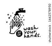 hand washing with soap icon.... | Shutterstock .eps vector #1662578950