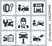vector vehicle service station... | Shutterstock .eps vector #166259489
