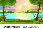 horizontal forest landscape... | Shutterstock .eps vector #1662600073