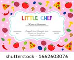 little chef. kids cooking class ... | Shutterstock . vector #1662603076