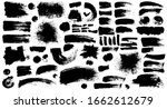 set of black ink style splash ... | Shutterstock .eps vector #1662612679