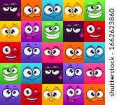 seamless pattern with funny... | Shutterstock .eps vector #1662623860