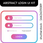 login ui kit abstract web user...