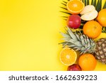 fresh fruits and vegetables on... | Shutterstock . vector #1662639223