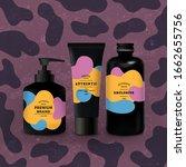 vector set of black realistic... | Shutterstock .eps vector #1662655756