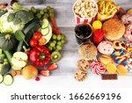 Healthy or unhealthy food....