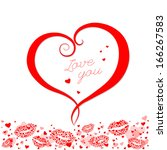 valentines composition of the...   Shutterstock .eps vector #166267583