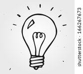 Vector Light Bulb Hand Drawn ...