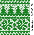 knitted seamless pattern with... | Shutterstock .eps vector #166268288