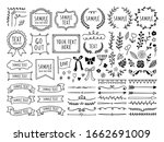 retro line drawing frames ... | Shutterstock .eps vector #1662691009