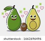 son and family avocado... | Shutterstock .eps vector #1662696496