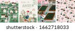 garden  set of posters... | Shutterstock .eps vector #1662718033