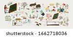 garden  vector cute... | Shutterstock .eps vector #1662718036
