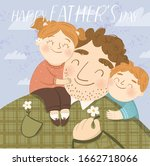 happy father's day  cute vector ...   Shutterstock .eps vector #1662718066