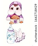 Watercolor Baby Feeding Set....