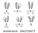 easter bunnies hand drawn  face ...   Shutterstock .eps vector #1662720673